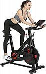 Finer Form Indoor Exercise Bike with 35lb Flywheel Belt-Driven Stationary Bike $300