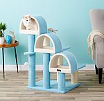 "38"" Armarkat Faux Fleece Cat Tree (Sky Blue) $48.40 & More"