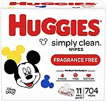 704-Count Huggies Simply Clean Unscented Baby Wipes $9.83