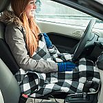 Stalwart - Electric Car Blanket- Heated 12V Polar Fleece Travel Throw $14.99 (save $20)
