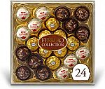 24 Count Ferrero Rocher Collection, Fine Hazelnut Milk Chocolates $9