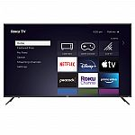 "65"" RCA Roku QLED Class 4K UHD Smart TV $449.98"