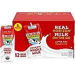 12-Pack Horizon Organic Whole Milk Single, 8 Fl Oz $10.10