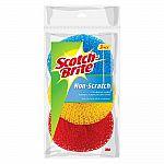 3-Ct Scotch-Brite Non-Scratch Plastic Scrubbing Pads $1.69