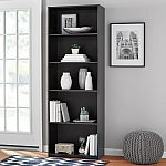 "71"" Mainstays 5 Shelf Bookcase $29.88"
