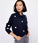 LOFT Warehouse Sale: Dotted Mock Neck Sweatshirt $9 (85% Off) & More