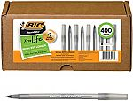 400-Ct BIC Round Stic Xtra Life Ball Pen $14