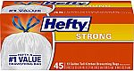 2 X 45 Count Hefty Strong Tall Kitchen Trash Bags, Unscented, 13 Gallon $9 and more