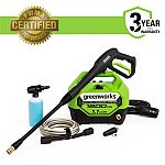 Greenworks 1800-PSI 1.1-GPM Cold Water Electric Pressure Washer $89 and more