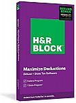 H&R Block Tax Software Deluxe + State 2020 with Refund Bonus (Physical Code by Mail) $22.50 (50% off) + Free Shipping with Prime.