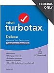 TurboTax Deluxe 2020 Desktop Tax Software, Federal Returns Only $29.99