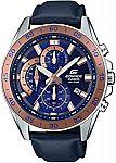 Casio Men's Edifice Stainless Steel Chronograph Watch $29