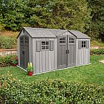 Lifetime 15' x 8' Rough Cut Dual-Entry Outdoor Storage Shed $1599