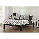 "Zinus Lorrick 14"" Quick Snap Metal Platform Bed Queen $105 & More"