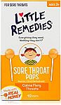10 Ct Little Remedies Sore Throat Pops $3.50