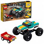 LEGO Creator 3in1 Monster Truck Toy 31101 (163-Pcs) $10.70