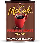 24-oz McDonalds McCafe Premium Medium Roast Ground Coffee $4.16 or $5.65