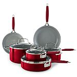 Food Network 10-pc. Nonstick Ceramic Cookware Set + Trick or Treat Tote $65