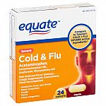 Equate Severe Cold & Flu Relief Caplets, 24 Count $1.27