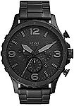 Fossil Men's Nate Stainless Steel Quartz Chronograph Watch $74 and more