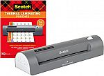 Scotch Thermal Laminator and Pouch Bundle $22