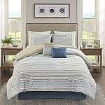 Kohls Cardholders - 6-pc Madison Park Margo Comforter Set w/Pillow $28.07 + Free Shipping