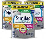3-Ct Similac Pro-Advance Infant Formula $73 and more