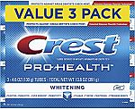 3-pk Crest Pro-Health Whitening Gel Toothpaste, 4.6 oz $5 and more