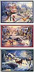 24 Hallmark Thomas Kinkade Boxed Christmas Cards Assortment $8