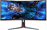 """AOC 34"""" Curved UltraWide QHD 144Hz Freesync Gaming Monitor $321 and more"""