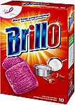 10-Ct Brillo Steel Wool Soap Pads, Original Scent (Red) $1.88