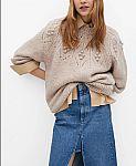 Macy's -  MANGO Embossed Sweater $40 (50% Off) & More