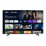 """TCL 55"""" 55S434 4-Series 4K UHD HDR Smart Android TV $298"""