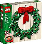 LEGO Iconic Christmas 2-in-1 Wreath with Big Red Bow and Advent 40426 $35