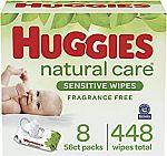 448-Ct Huggies Natural Care Sensitive Baby Diaper Wipes $9, 704-Ct $11