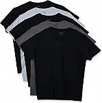 5 pack Gildan Men's V-Neck T-Shirts $11.50