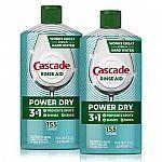 2-Pk 16-Oz Cascade Power Dry Dishwasher Rinse Aid $8.05