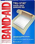 2 x 10 ct Band-Aid Brand Tru-Stay Adhesive Pads, Large Size $4.47