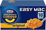 Kraft Easy Mac Original Flavor Macaroni and Cheese Meal (18 Pouches) $6.16