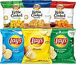 40-Count Lay's and Lay's Kettle Cooked Potato Chips Variety Pack $12.09 & More Seasoning & Snacks