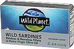 12-Pack Wild Planet Wild Sardines in Extra Virgin Olive Oil $12.30