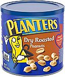 2-Pack 52 oz Planters Dry Roasted Peanuts $12.13 & More