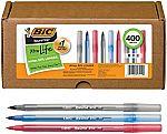 400-Ct BIC Round Stic Xtra Life Ballpoint Pen $14.32