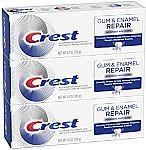 3-Pack 4.1-oz Crest Gum & Enamel Repair Toothpaste (Advanced Whitening) $9