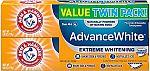 2-Ct 6oz Arm & Hammer Advance White Extreme Whitening Toothpaste $2.84