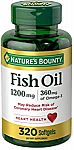320-Ct Nature's Bounty Fish Oil, 1200mg (2 for $22) & More