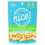 Nice! Cashews Halves and Pieces Sea Salt - 8 oz (2 for $1.99) and more
