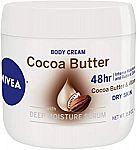NIVEA Cocoa Butter Body Cream 15.5 Oz (3 for $10.63) and more