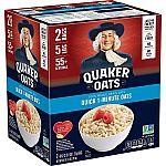 5LB Quaker Quick 1-Minute Oatmeal $4.49