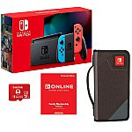 Nintendo Switch Bundle with Carrying Case, 12-Month Gaming Membership & 128GB Memory Card $350